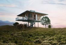 Модульные дома на сваях Stilt Studios собирают дождевую воду и питаются солнечной энергией