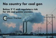 Угольные электростанции США станут убыточными к 2021 году