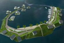 Первое в мире плавучее экопоселение Blue Frontiers построят в море у Таити