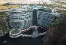 Уникальный «небоскреб наоборот» Shimao Wonderland - отель, вгрызающийся в карьер (видео)