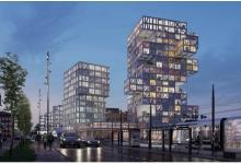 Многоквартирный дом на солнечных батареях с дизайном в стиле игры Дженга построят в Германии