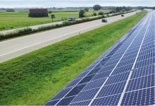 Вдоль трассы в Нидерландах построят солнечную электростанцию длиной 40 км и площадью 300 Га