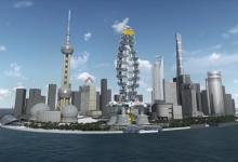 Новый «зеленый» небоскреб станет док-станцией для летающих такси в Шанхае (видео)