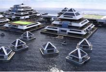 Плавучий город из пирамид на солнечных батареях хотят построить итальянские архитекторы