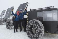 Электровездеход на солнечных батареях исследует Антарктиду (видео)