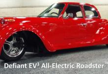 Новый трехколесный электромобиль от Shockwave Motors совместил классику с современными трендами