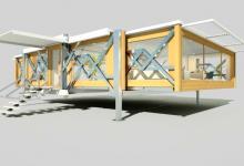 Самораскладывающийся модульный дом от TEN FOLD легко транспортируется, расширяется и может быть полностью автономным (видео)