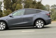 Новый прототип Tesla Model Y Midnight Silver замечен на дороге