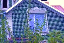 Энергосберегающий дом из стеклянных бутылок построили в Запорожье (видео)