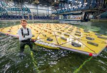Первая модель плавучего города создана в Голландии