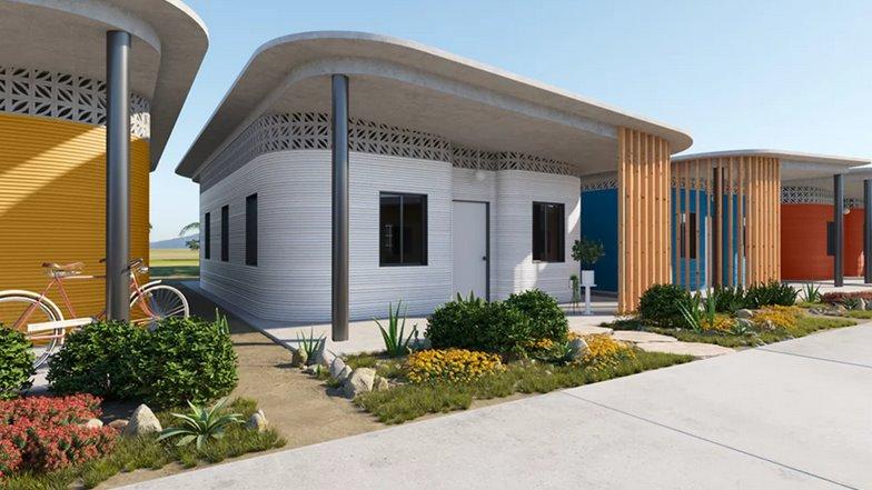 Картинки по запросу спосіб будівництва дешевих споруд за допомогою 3D-принтера, що друкує будинки з будівельного сміття.