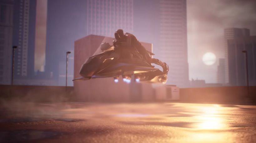 Реактивный аэромотоцикл