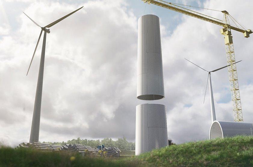 Деревянные модульные башни для ветрогенераторов Modvion удешевлят стоимость энергии ветра