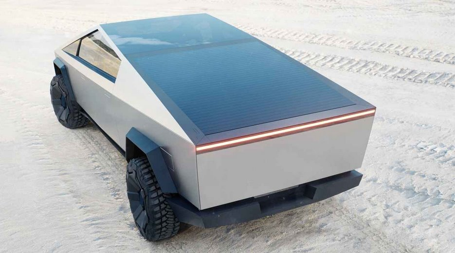 Кибер-пикап Тесла на солнечных батареях