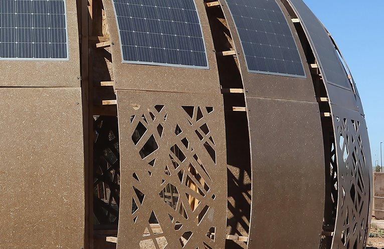 Энергоэффективный дом из местных материалов