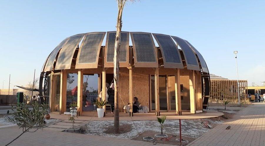 Солнечный дом из глины