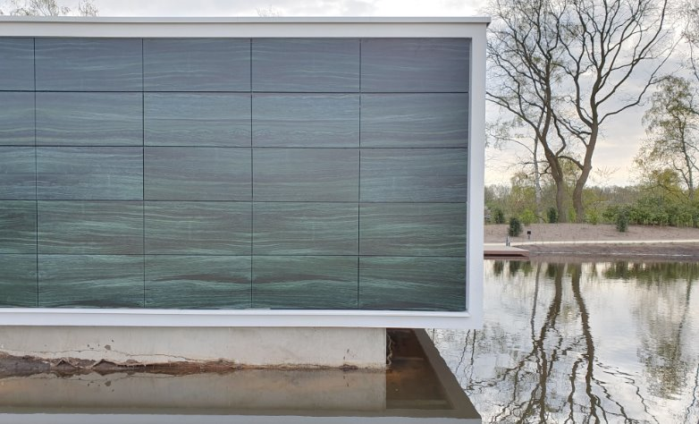 Красивая фотоэлектрическая панель для облицовки фасадов