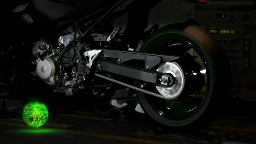 Электрифицированый мотоцикл Кавасаки