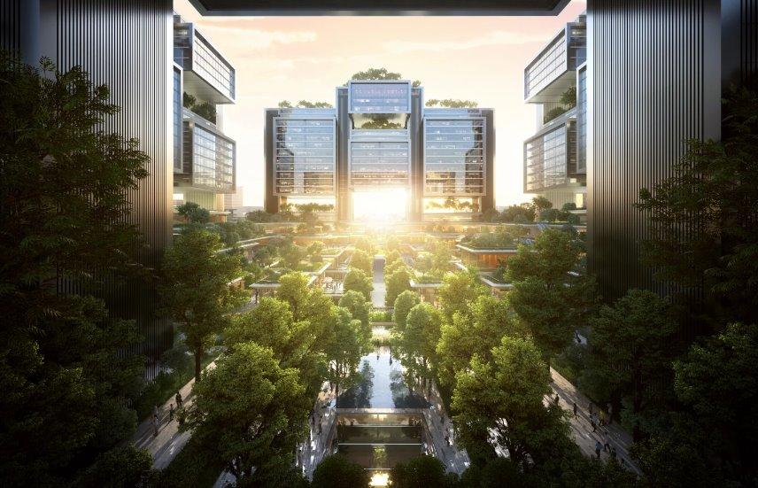В Шэньчжэне построят транспортный узел с озелененными небоскребами - ЭкоТехника