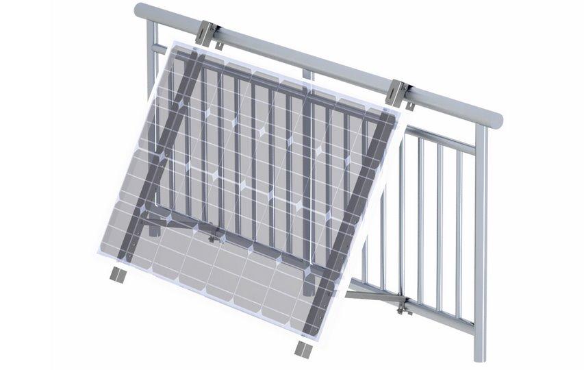 Солнечные панели на балконе универсальная система крепления представлена Clenergy