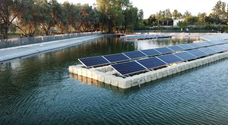 Плавучие солнечные батареи