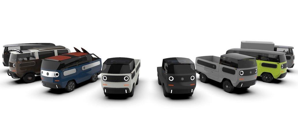 Модульный электромобиль eBussy - солнечная крыша, 2 шасси, 10 типов кузовов и цена от 15800