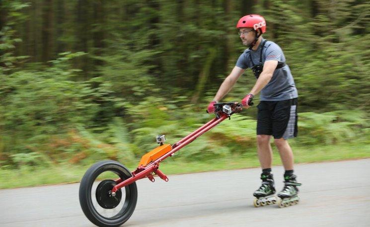 Мотор-колесо для езды на роликах