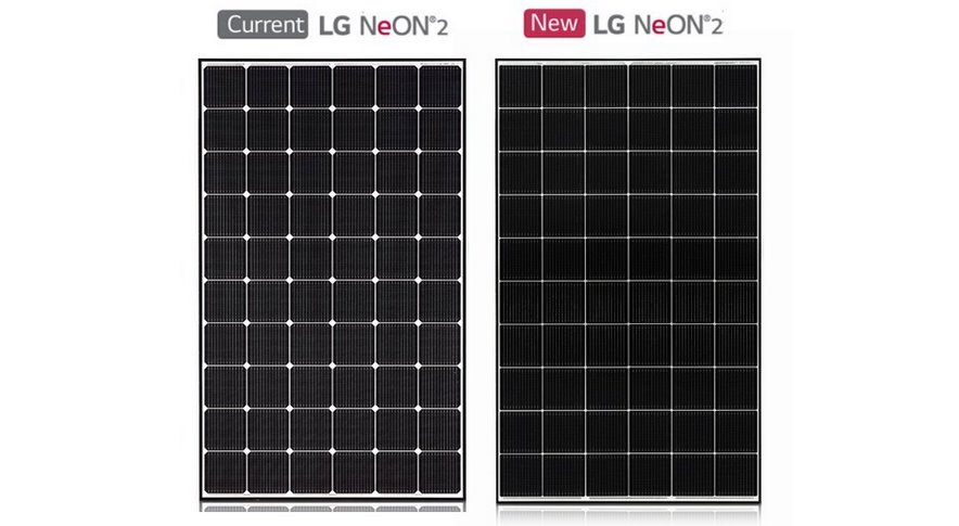 Солнечная батарея с микроинвертором LG