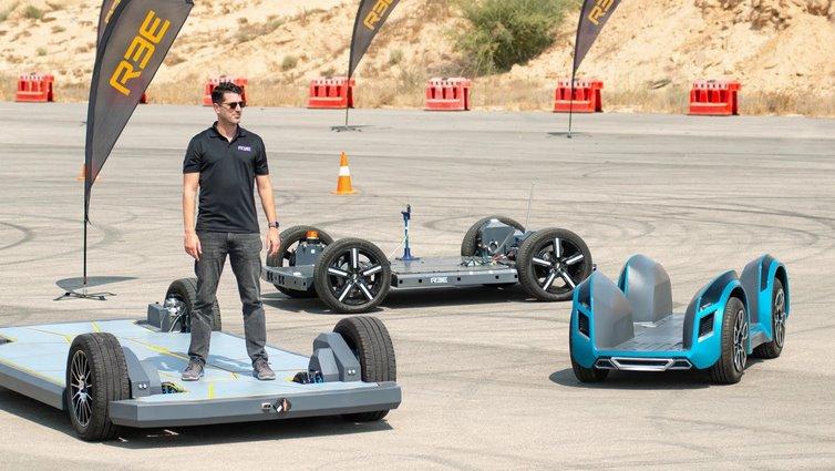 REE представил три модульных шасси электромобилей с мотор-колесами