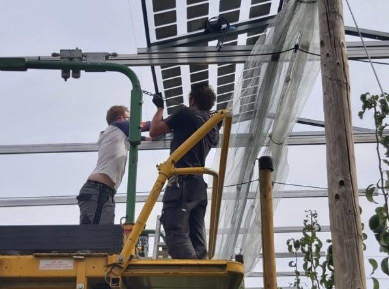 Установка солнечной электростанции в саду