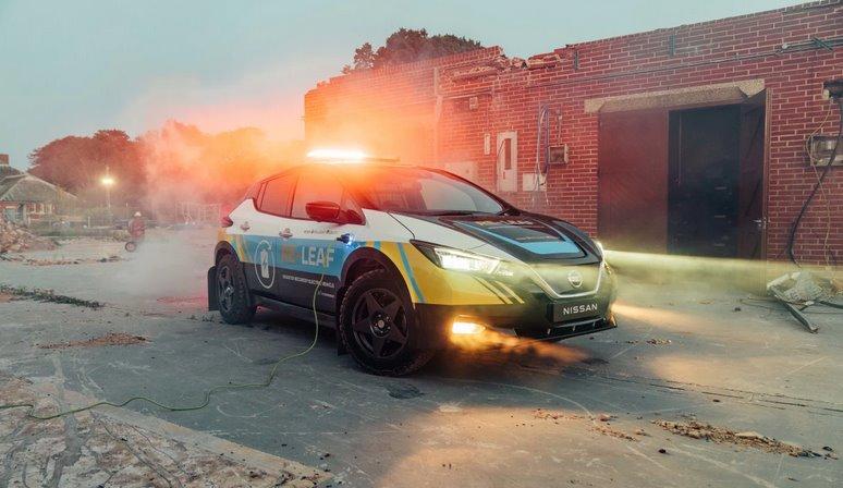 Электромобиль Nissan Re-Leaf - мобильная электростанция при стихийных бедствиях и ЧС