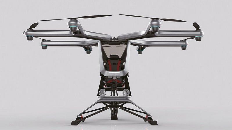 Летающий электромобиль Xpeng представила на Пекинском автосалоне прототип мультикоптера
