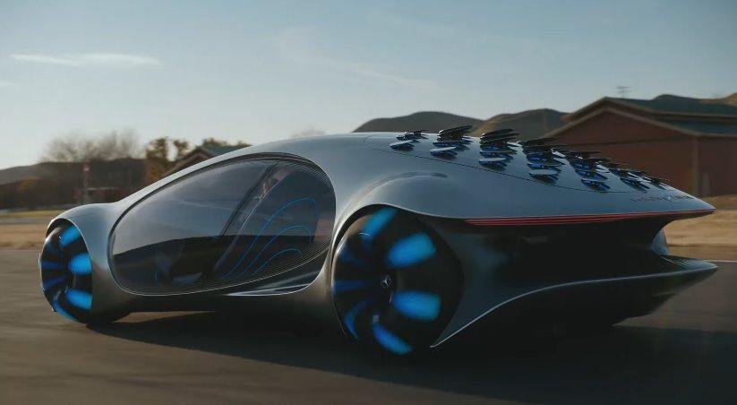 Mercedes-Benz AVTR уже на ходу - видео футуристичного электромобиля в движении