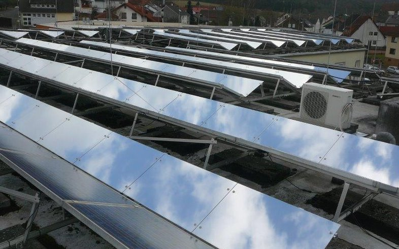 Солнечные панели с отражателями