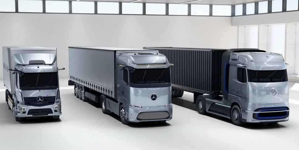 Mercedes представил электротягач eActros LongHaul и грузовик на водородных топливных элементах