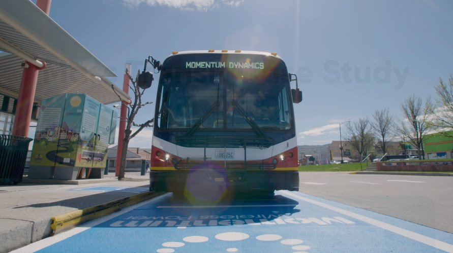 Беспроводная зарядка электробуса