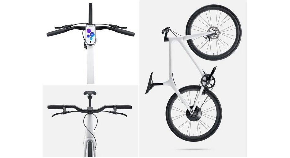 Новый электрический велосипед с подключением к смартфону