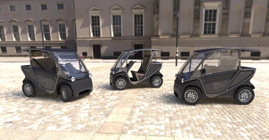 Мини-электромобили Squad солнечные батареи помощнее и новые опции