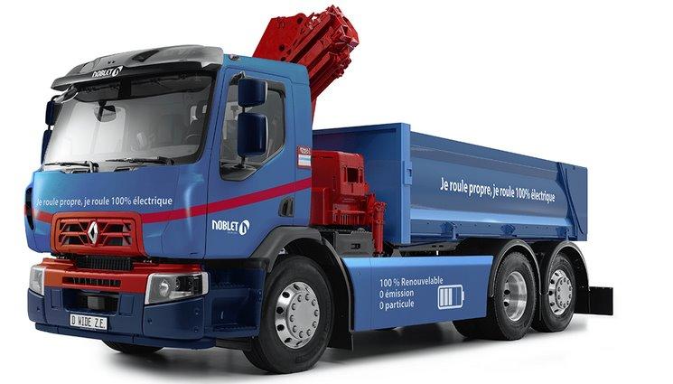 Renault Trucks выпустила первый электрический самосвал