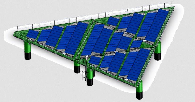 Голландский стартап разработал платформу для офшорных солнечных электростанций