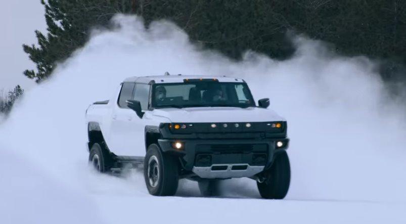 Электромобиль HUMMER EV прошел зимние тесты