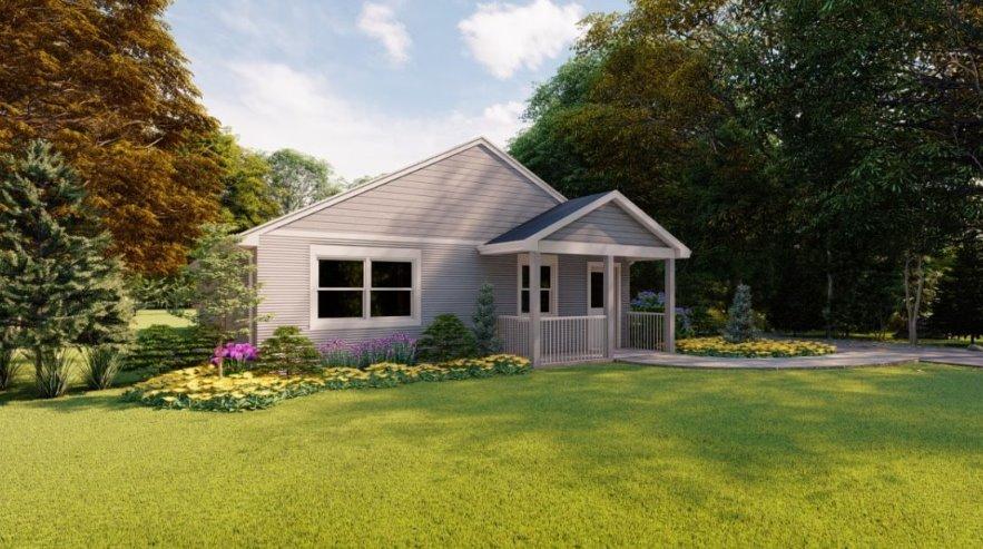 Жилой дом, напечатанный на принтере, продается в США