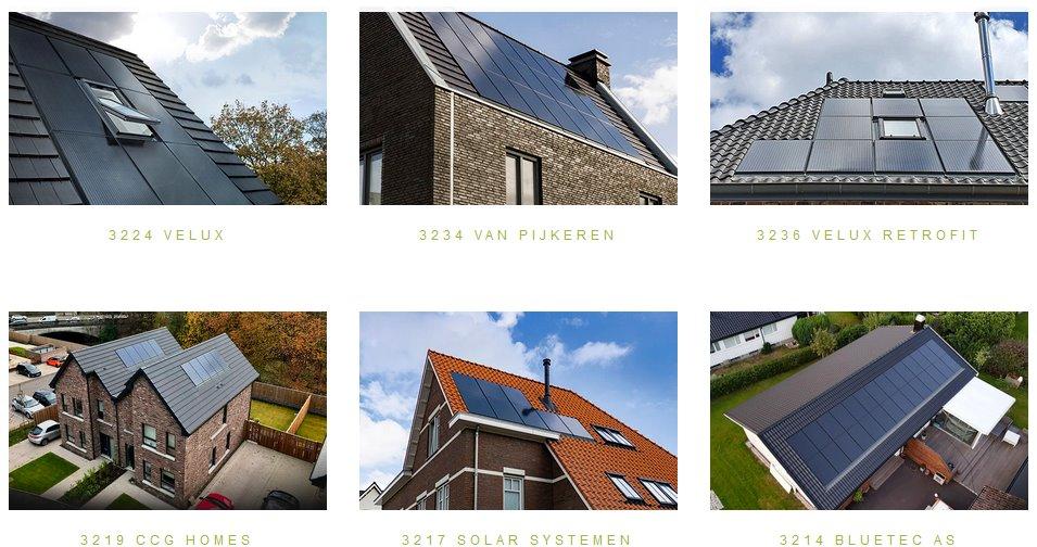 Солнечные крыши домов в Европе