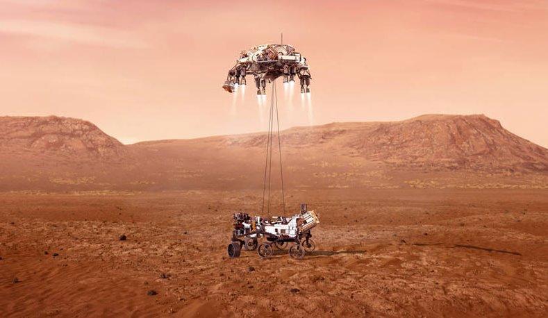 Успешная посадка марсохода Perseverance и первые фото и видео с Красной планеты