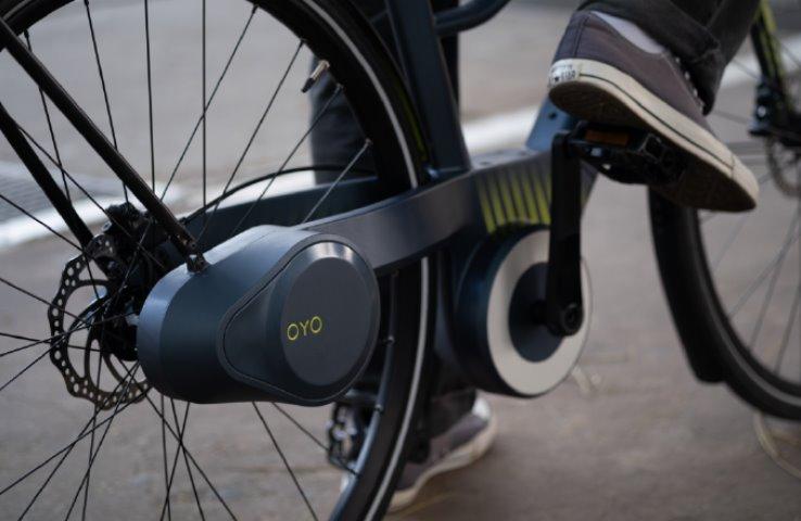 У електровелосипеда Oyo ланцюг замінили гідравлічним приводом