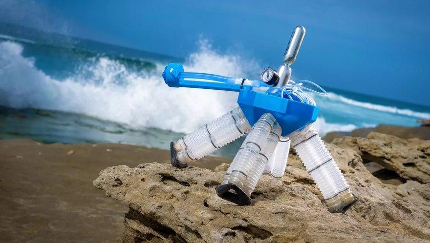 Новый мягкий робот может двигаться без применения электроники (видео)