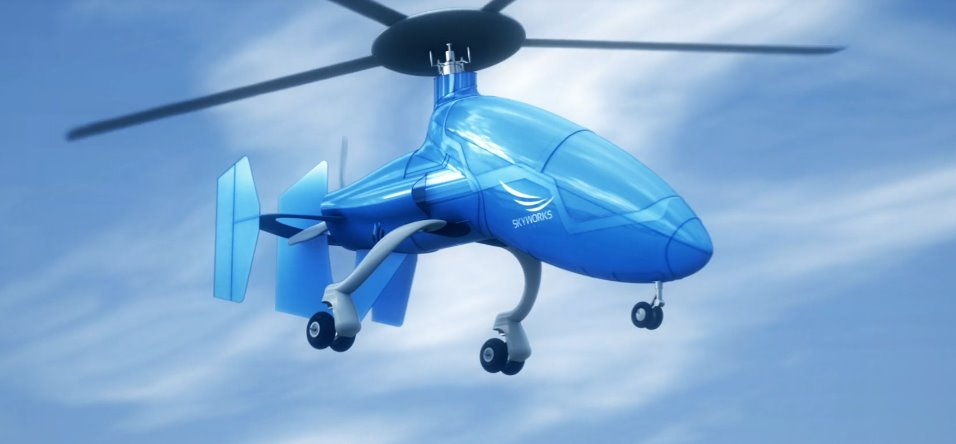 Электрическое аэротакси-винтокрыл составит конкуренцию мультикоптерам