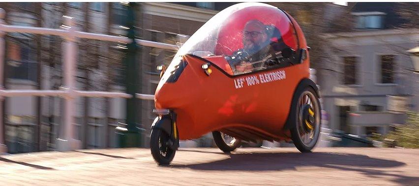 Микро-электромобиль LEF  уникальное трехколесное транспортное средство