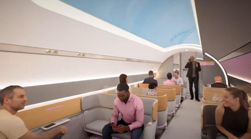 Каким будет путешествие на вакуумном поезде Hyperloop - видео от Virgin