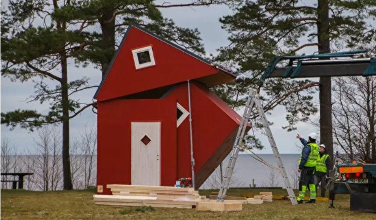 Складной дом Brette Haus можно построить за 3 часа и взять с собой при переезде